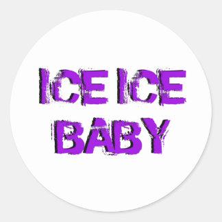 SkateChick Ice Ice Baby Classic Round Sticker