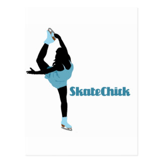 SkateChick Logo Postcard