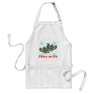 SkateChick Peace On Ice Adult Apron