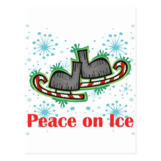 SkateChick Peace On Ice Postcard