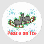 SkateChick Peace On Ice Stickers