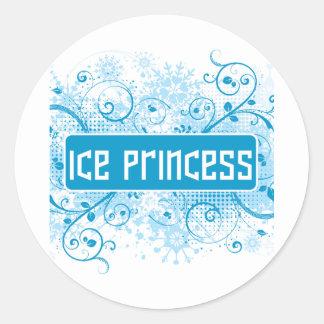 SkateChick Princess Classic Round Sticker