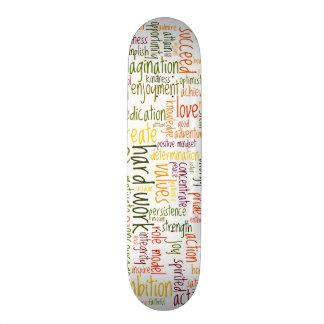 Skatedecks de motivación de las palabras #2 tablas de patinar