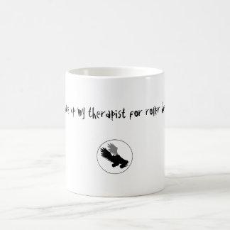 skatelogo, I gave up my therapist for roller de... Classic White Coffee Mug
