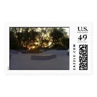 Skatepark Sunrise Stamp
