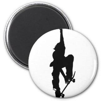 Skater 2 Inch Round Magnet