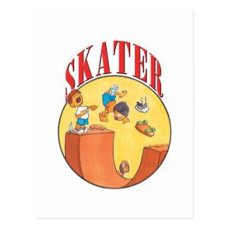 Skater 4 tarjetas postales