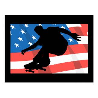 Skater americano tarjetas postales