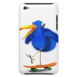 skater azul del pájaro 3d barely there iPod coberturas