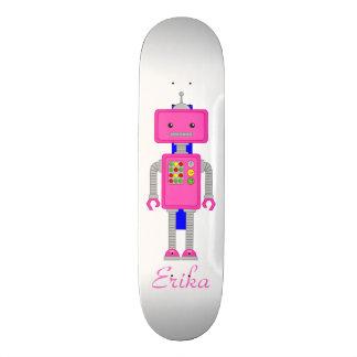 Skater Board Pink Robot Skateboard