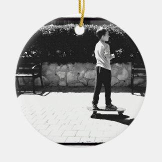 skater boy ceramic ornament