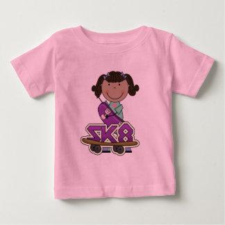 SKATER - camisetas afroamericanas del chica Playera Para Bebé