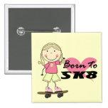 SKATER - camisetas y regalos rubios del chica Pins