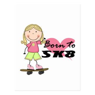 SKATER - camisetas y regalos rubios del chica Tarjeta Postal
