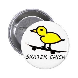 Skater Chick 2 Inch Round Button