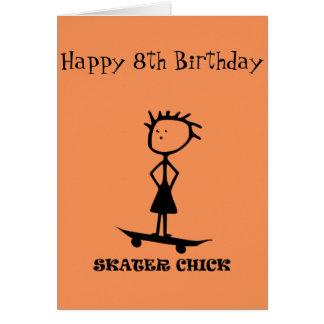 Skater Chick Card