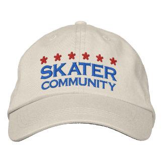 SKATER COMMUNITY - 001 EMBROIDERED BASEBALL CAP