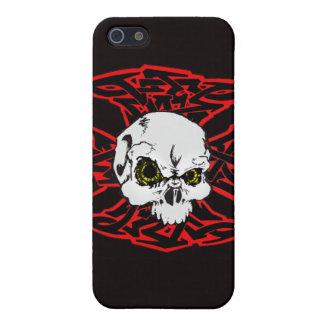 Skater Ctoss and skull Case For iPhone SE/5/5s