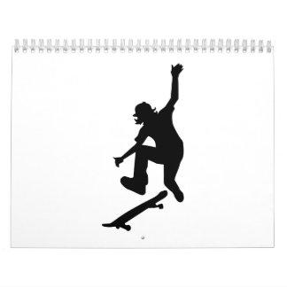 Skater del patinador calendario