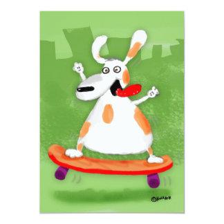 Skater Dog Card