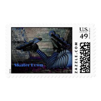 Skater Down! Stamp