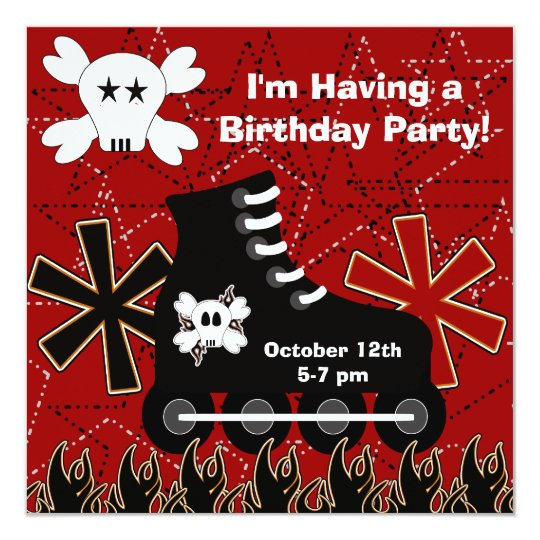 Skater Dude Birthday Party Invitation