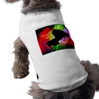 Skater eléctrico del espectro playera sin mangas para perro