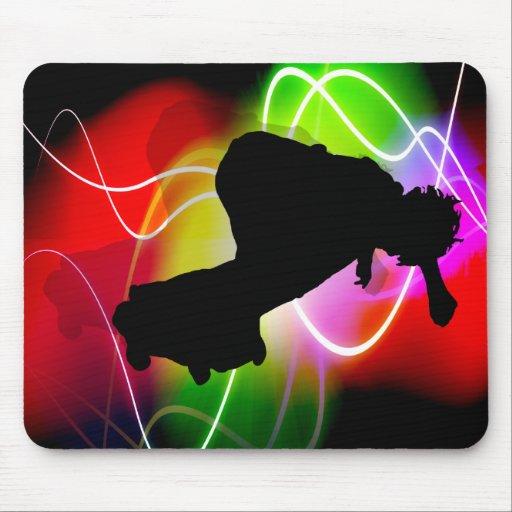 Skater eléctrico del espectro alfombrillas de ratón