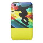 Skater en el relámpago cruzado de Criss iPhone 3 Case-Mate Protectores