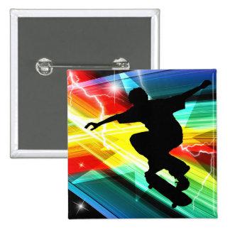 Skater en el relámpago cruzado de Criss Pins
