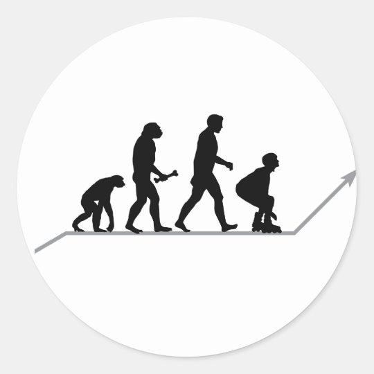 Skater Evolution Classic Round Sticker