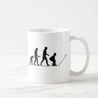 Skater Evolution Classic White Coffee Mug