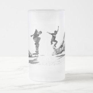 Skater Frosted Glass Beer Mug