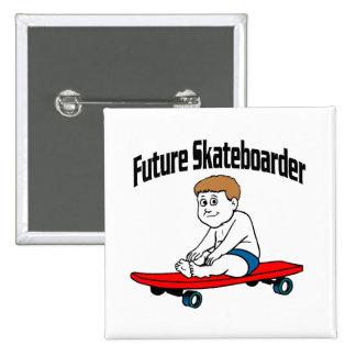 Skater futuro pin cuadrado