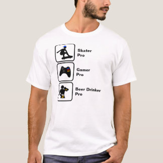 Skater, Gamer, Beer Drinker T-Shirt