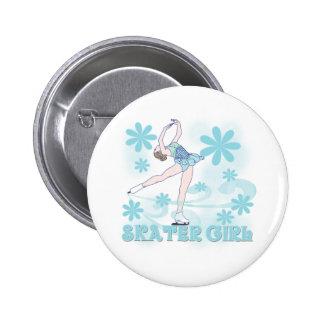 Skater Girl Button