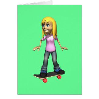 Skater Girl Card