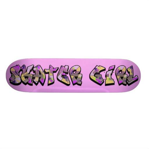 Skater Girl Graffiti Skateboard