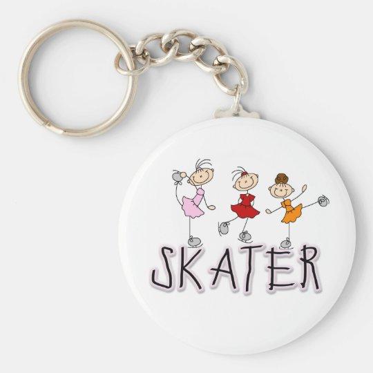 Skater Girl Keychain
