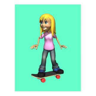 Skater Girl Postcard