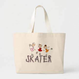 Skater Girl T-shirts and Gifts Large Tote Bag