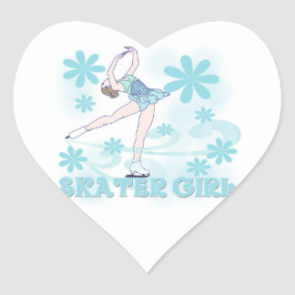Skater Girl Tshirts and Gifts Heart Sticker