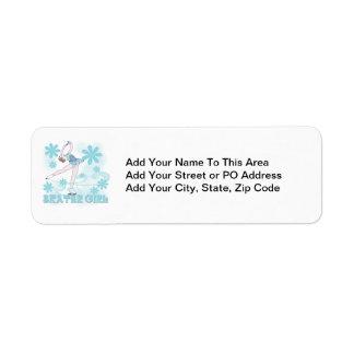 Skater Girl Tshirts and Gifts Return Address Label