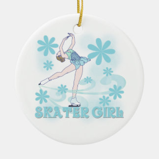 Skater Girl Tshirts and Gifts Ornaments