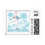 Skater Girl Tshirts and Gifts Postage Stamp