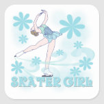 Skater Girl Tshirts and Gifts Square Sticker