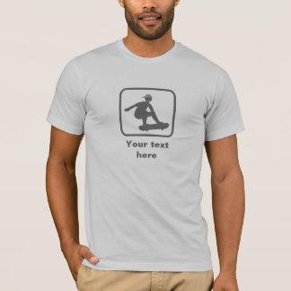 Skater -- Grey Logo -- Customizable T-Shirt