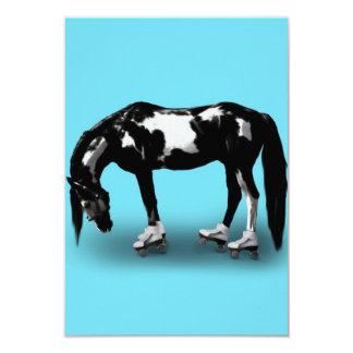 Skater Horse 3.5x5 Paper Invitation Card