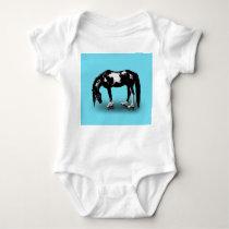 Skater Horse Baby Bodysuit