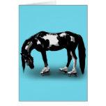 Skater Horse Greeting Cards
